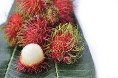 Thai fruit. Fresh rambutan sweet delicious fruit of Thailand Royalty Free Stock Photos