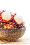Thai fruit, rambutan. Rambutan, Negrito, Semang, sweet Thai fruit Royalty Free Stock Photo