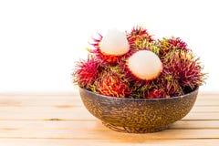 Thai fruit, rambutan. Rambutan, Negrito, Semang, sweet Thai fruit Royalty Free Stock Photos