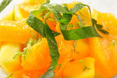 Thai fruit salad closeup Stock Images
