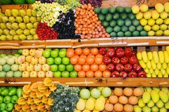 Thai Fruit Stand stock photography