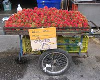 Thai Fruit Stand Stock Photo