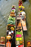 Thai fruit & Thai Dessert in Floating market Royalty Free Stock Photo