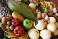 Thai fruits Stock Photos