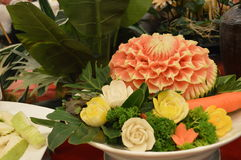 Thai fruits decoration. S on the dinning table Stock Image