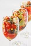 thai fruktsalladstil Arkivfoto