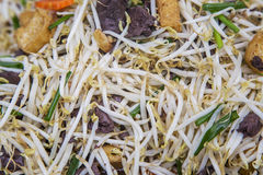 Thai fry noodles with vegetable Stock Photography
