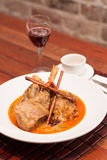 Thai Fusion Food, Lamb Massaman Royalty Free Stock Photo