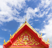 Thai Gable. Of Thailand Temple Royalty Free Stock Photography