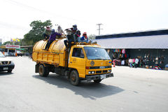 Thai garbage truck Stock Image