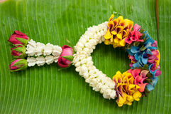 Thai garland colorful flower Royalty Free Stock Images