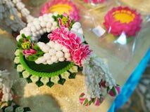 Thai garland colorful flower Stock Photo