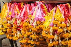 Thai garland colorful flower Royalty Free Stock Photos