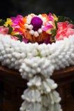 Thai garland colorful flowers.  (Close up - Macro shot) Royalty Free Stock Photos