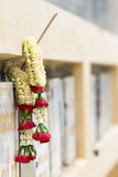 Thai garland. In front of tomb Royalty Free Stock Photo