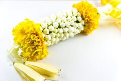 Thai  garland. Thai traditional garland on white background Stock Images