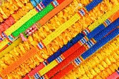 Thai garlands from flowers, texture Stock Photos