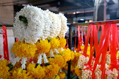 Thai garlands in the market Royalty Free Stock Image
