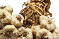 Thai garlics. Thai garlic with white background Stock Images
