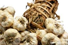 Thai garlics. Thai garlic with white background Royalty Free Stock Images