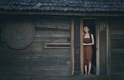 Thai ghost Legendary Thai ghost Mae Nak Phra Khanong,Thai traditional uniform dress. Royalty Free Stock Images