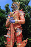 Thai giant. Detail of ancient Thai giant, it was character in Thai legend Royalty Free Stock Images