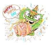 Thai Giant Cartoon Happy Birthday Royalty Free Stock Images