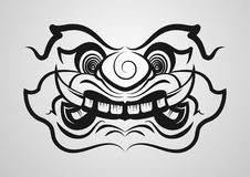 Thai Giant Monster vector eps10. outline design for poster, tattoo, logo. Stock Photos