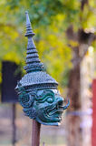 Thai giant. Portrait at temple of the emerald buddha in bangkok thailand (wat phra kaew Stock Photos
