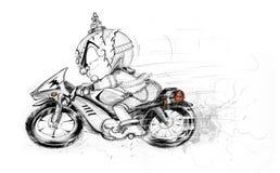 Thai Giant Ridding Big Bike Hand Draw Royalty Free Stock Photos