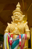 Thai giant sculpture. Giant sculpture at the thai temple royalty free stock photos
