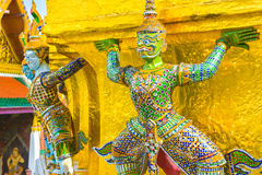 Thai giant statue in Temple at Bangkok, Thailand. Thai style giant statue in Temple at Bangkok, Thailand Royalty Free Stock Images