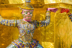 Thai giant statue in Temple at Bangkok, Thailand. Thai style giant statue in Temple at Bangkok, Thailand Royalty Free Stock Photos