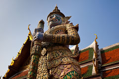 Thai Giant Statue in Wat Phra Keaw Royalty Free Stock Photography