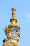 Thai giant statue of wat prakeaw. Wat prakeaw in Thailand Royalty Free Stock Images