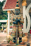 Thai giant statues, giant symbol in Thai temple Royalty Free Stock Images