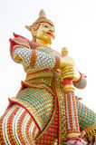 Thai giant statues in temple Stock Photo