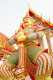 Thai giant statues in temple Royalty Free Stock Images