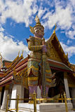 Thai giant at Wat Phra Kaeo Bangkok Province. Thai giant in Bangkok Thailand Royalty Free Stock Photos