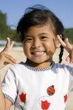 Thai girl. Portrait of a beautiful little Thai girl stock image