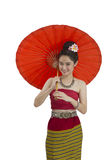 Woman in Thai northern costume Stock Images