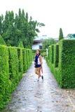 Thai girl in beautiful garden Royalty Free Stock Image