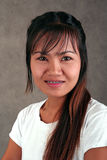 Thai girl with braces. On her teeth stock images