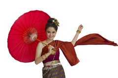 Thai girl dance Royalty Free Stock Image