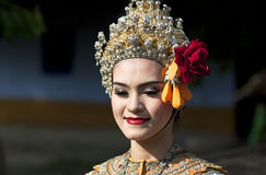 Thai girl. Thai dancer girl in traditional clothes