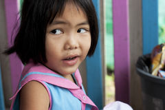 Thai girl in the kindergarten Royalty Free Stock Photography