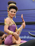 Thai girl with northern style dress Stock Photo