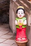 Thai girl Smile Clay Dolls happy Royalty Free Stock Images