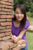 Thai girl in Wiang kum kam Royalty Free Stock Photography