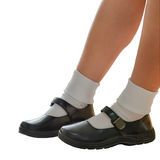 Thai schoolgirl's shoe isolation Royalty Free Stock Images